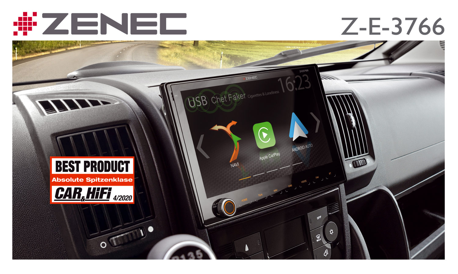 Best Product – ZENEC Z-E3766 Sat Nav for Fiat Ducato